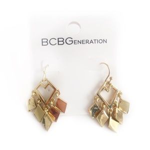 BCBGENERATION EARRINGS BOHO STYLE GOLD TONED